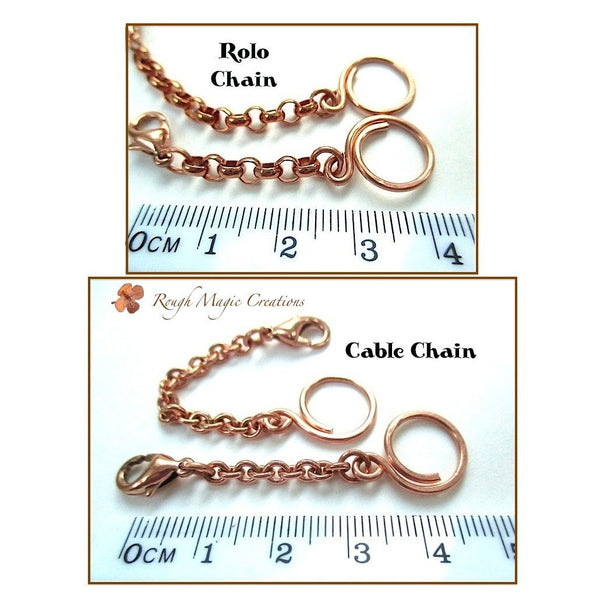 Solid Copper Extender Chains, Necklace Lengtheners