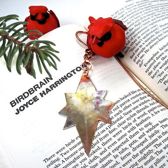 Copper Bookmark, Metal Star of Bethlehem, Religious Bookmark, Christmas Presents, Holiday Gift Ideas, Stocking Stuffer, Advent Bookworm Gift