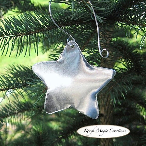 Little Star Shine Holiday Ornament Silver Aluminum Christmas Decoration