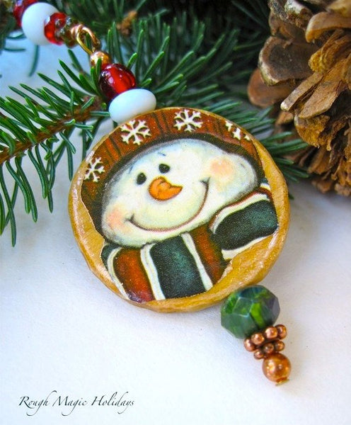 Jolly Little Snowman Festive Winter Holidays, Wooden Decoration