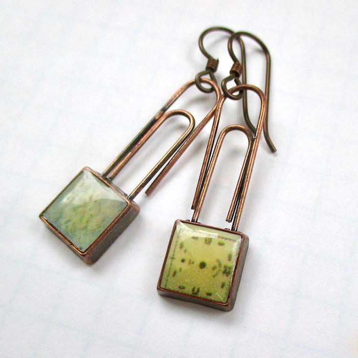 Girl Friday Earrings Recycled Paper Clips