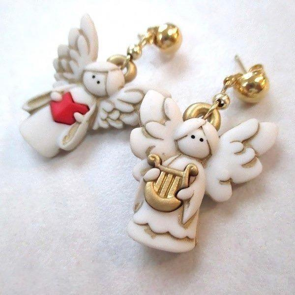 Cute Angels Christmas Earrings Holiday Jewelry for Women and Teenage Girls