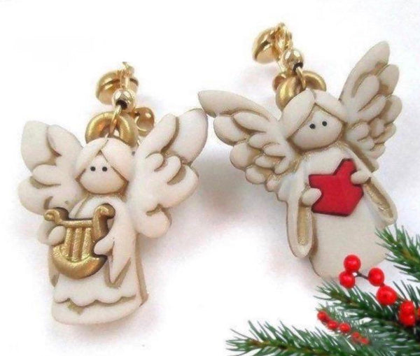 Christmas Gift Ideas for women and teen girls - funky angel earrings.