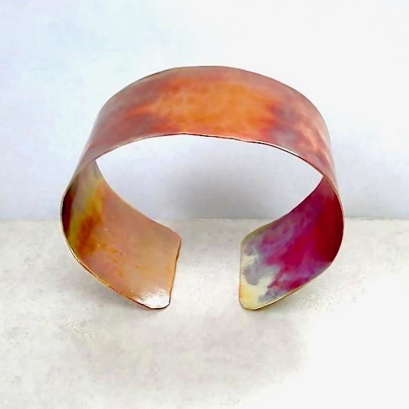 Men's and Women's Hammered Copper Cuff Rustic Unisex Bracelet
