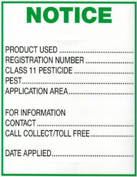 Notice Residential - 1000 Signs - Outdoor Supplies - OSE Online