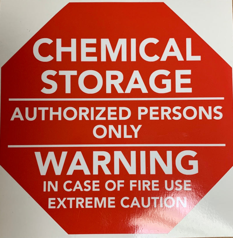 Chemical Warning Truck Decal - OSE Online