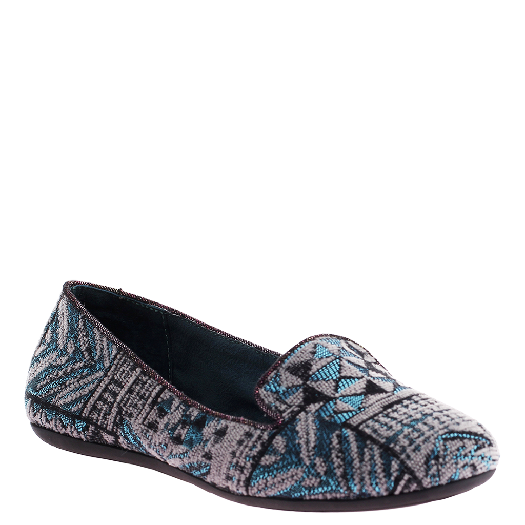 relief in blue grey women s loafer