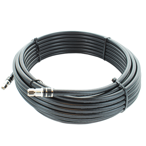 50 ft. Black RG11 Low Loss Coax (F Male to F Male)