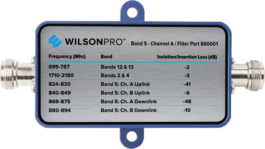 Band 5 Channel A Filter (F Connector)