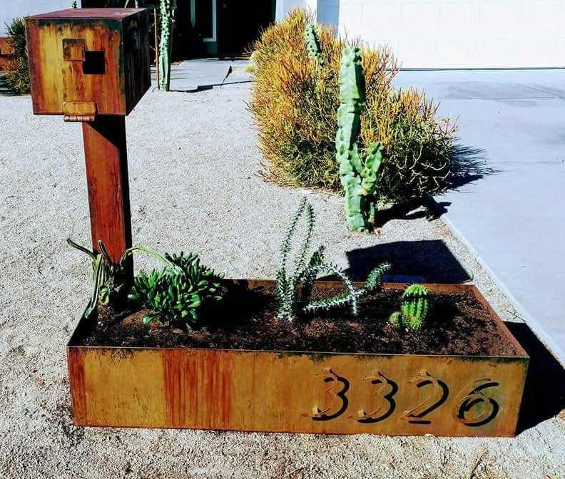 Planters and Mailbox