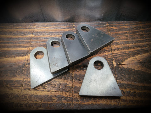 "2"" RADIUS BASE WELD-ON TAB, 1/4"" MILD STEEL"