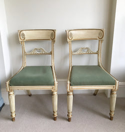 Set Of 4 Antique Georgian Dining/Bedroom Chairs