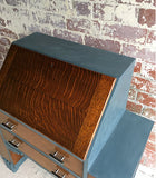 Original Art Deco Oak Bureau