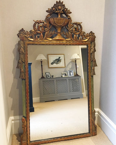 Large Decorative Gilt Vintage Mirror