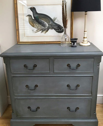 Lovely Chest Of Drawers Hand Painted