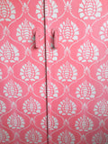 Vintage Pink Wardrobe Hand Painted With Damask Design