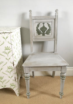 A Vintage Grey Painted Hall/Bedroom Chair
