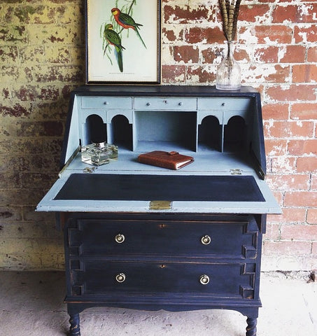 Lovely Painted Vintage Bureau