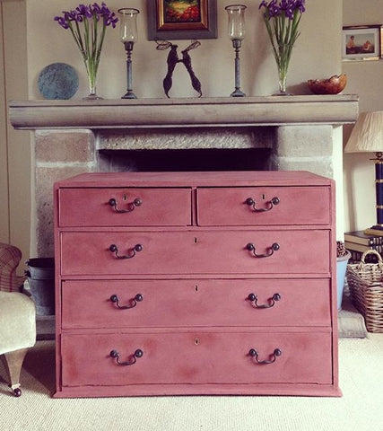 Chest Of Drawers Painted Annie Sloan Primer Red