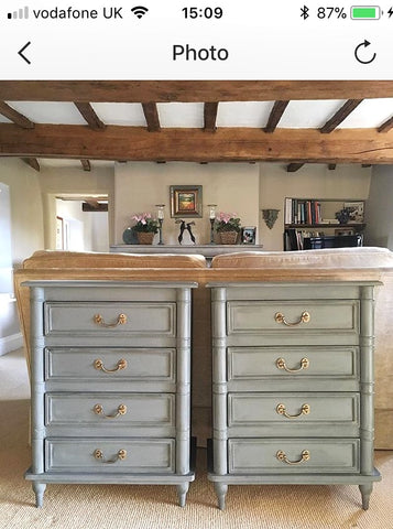 Pair Of Bedside Drawers Painted With A Bespoke Grey Mix