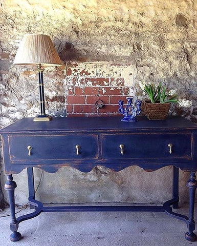 Oak Sideboard Painted Autentico Sailors Blue