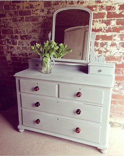 Victorian Dressing Table Painted Autentico After Rain
