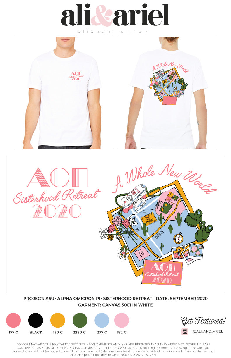 ASU- Alpha Omicron Pi- Sisterhood Retreat Tees