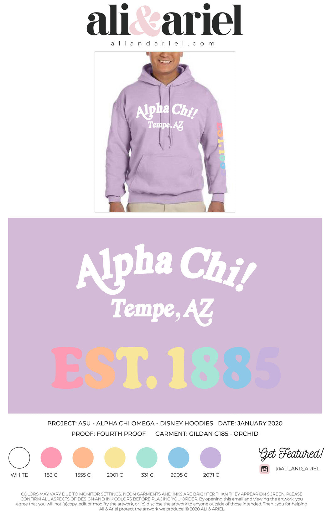 AXO Purple Disney Sweatshirt