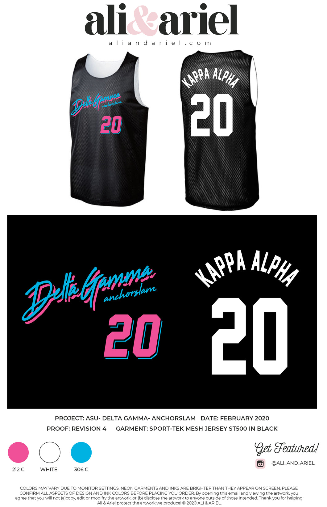 KAPPA ALPHA. ASU- DG- Anchorslam JERSEYS