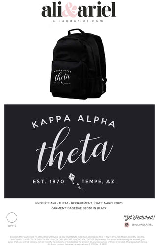 ASU- Theta- Recruitment 2020- Backpacks