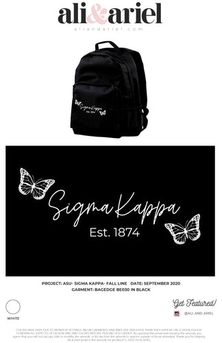 BACKPACKS. ASU- Sigma Kappa- Fall Line '20