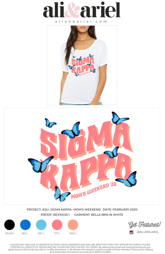 SLOUCHY TEES. ASU- Sigma Kappa- Mom's Weekend