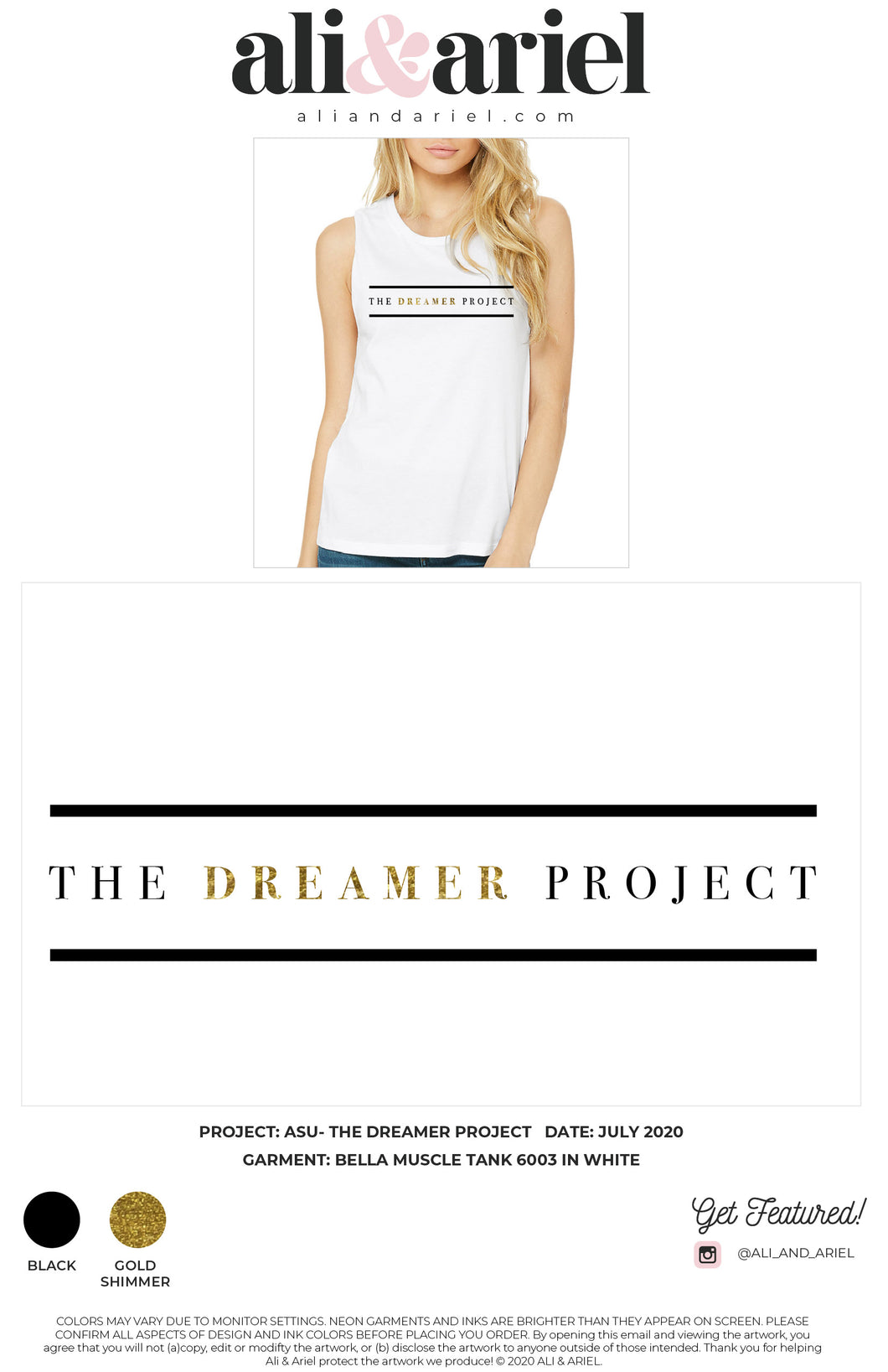 The Dreamer Project- Muscle Tank