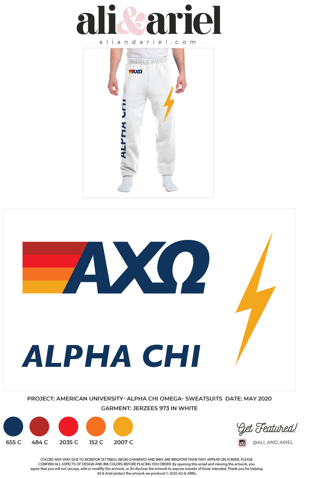 American University- AXO- Sweatpants