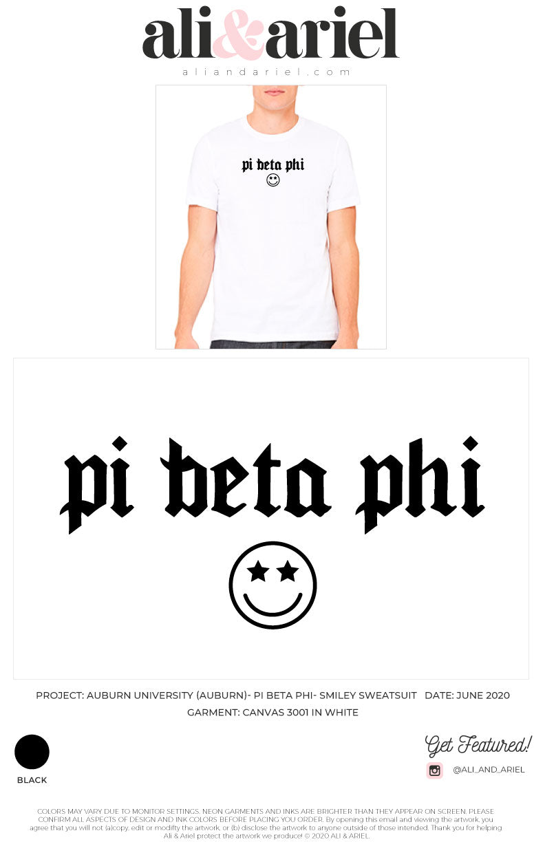 Auburn University- Pi Beta Phi- Smiley Tees
