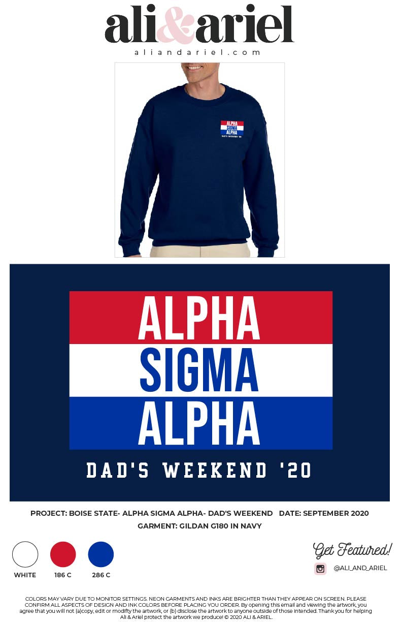 Boise State- Alpha Sigma Alpha- Dad's Weekend