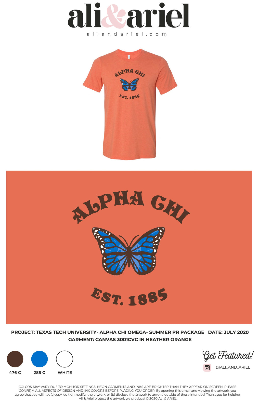 Texas Tech- AXO- Butterfly Tee