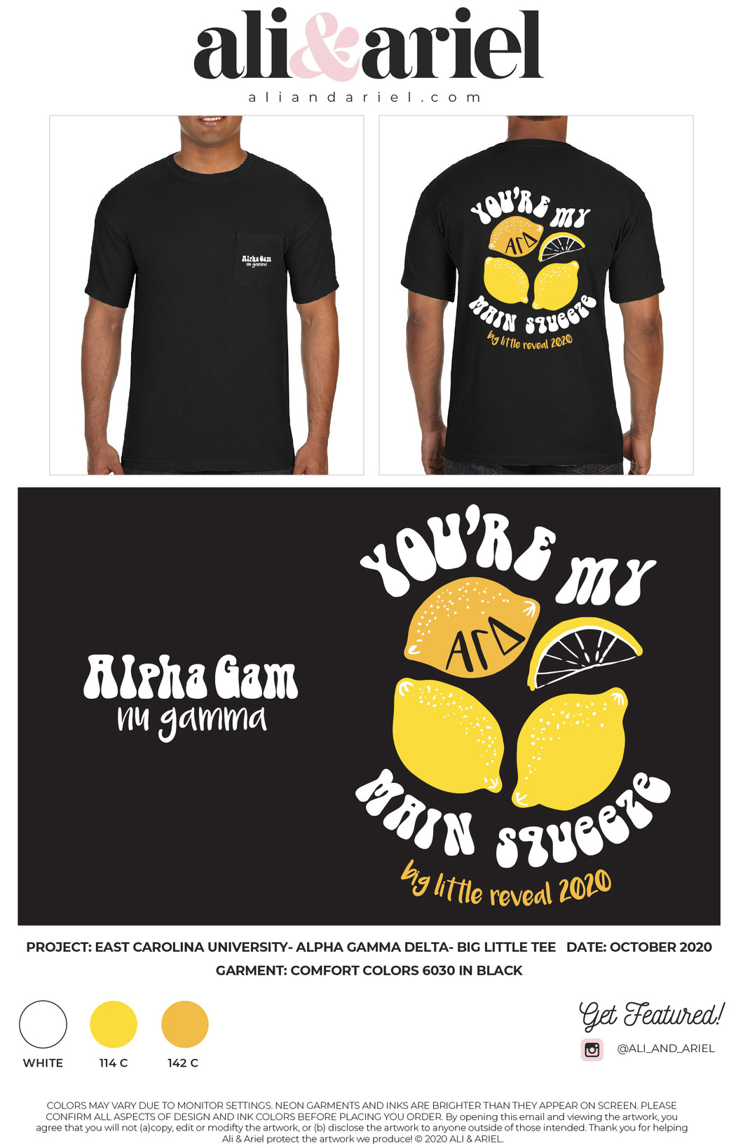 East Carolina University- Alpha Gamma Delta- Big Little Tee