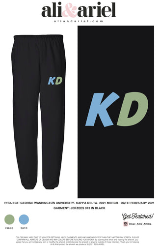 The George Washington University- Kappa Delta- Rainbow Sweatpants
