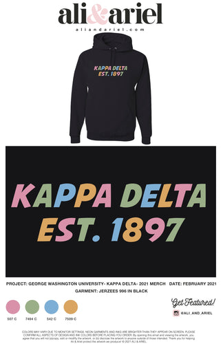 The George Washington University- Kappa Delta- Rainbow Hoodies