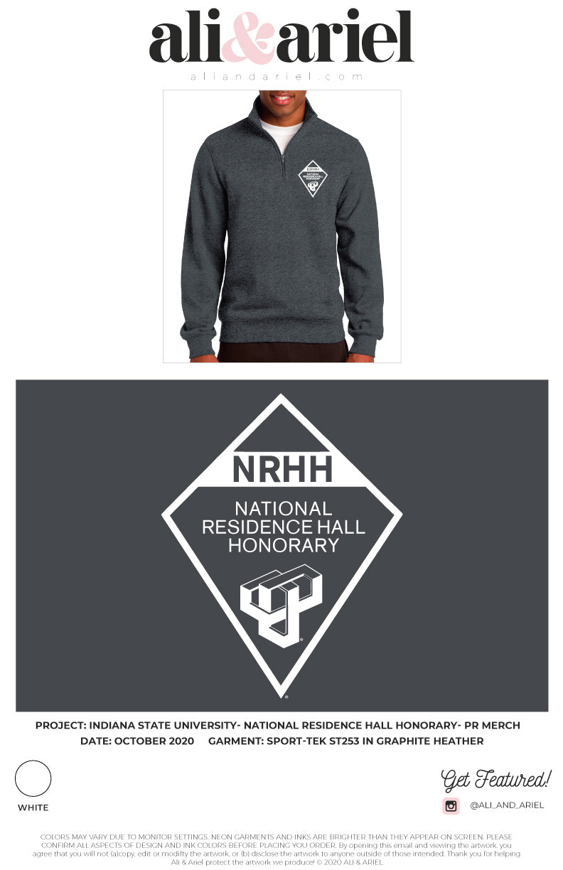 Indiana State- National Residence Hall Honorary- Quarter Zip