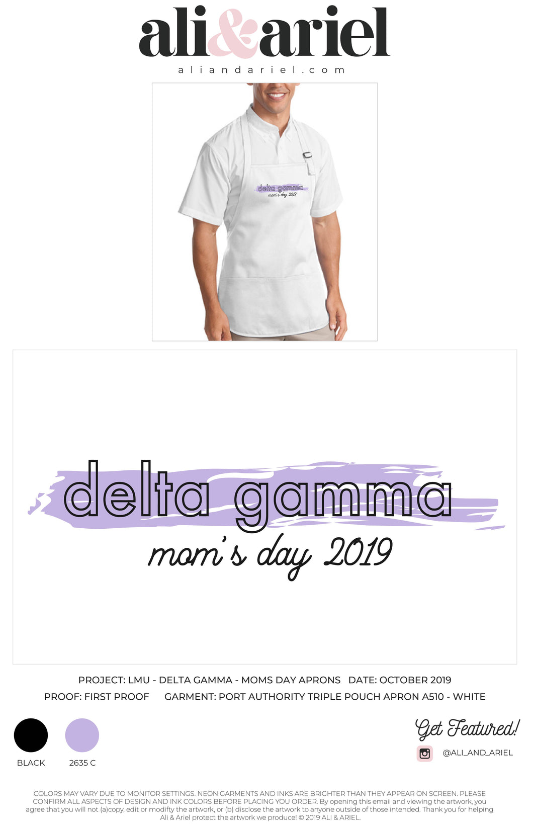 LMU- Delta Gamma- Mom's Day Cooking Class Aprons
