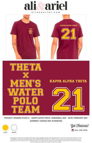 MEN'S WATER POLO TEAM - ASU Theta Dodgeball 2021