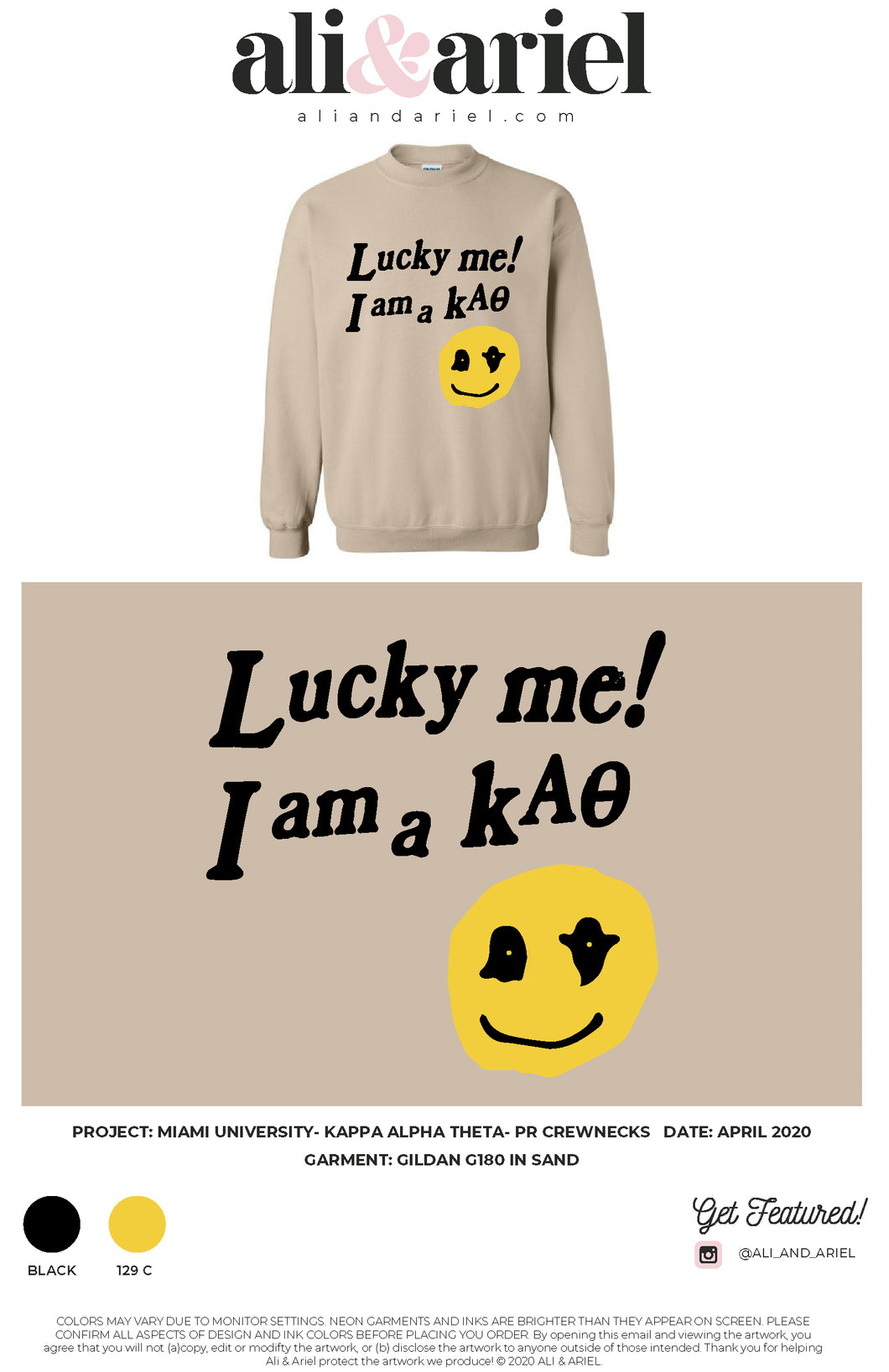 Miami University- Kappa Alpha Theta- PR Crewneck