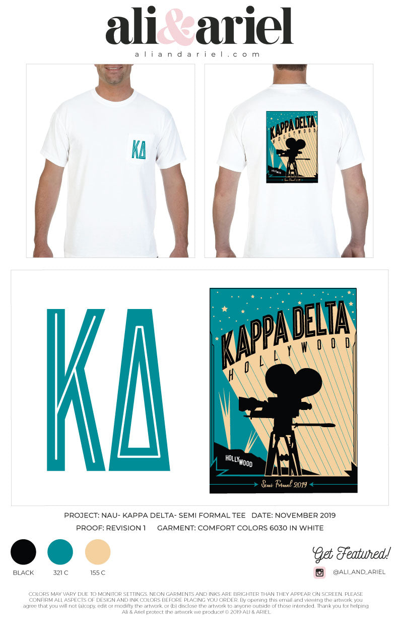 NAU- Kappa Delta- Semi Formal Tee 2019