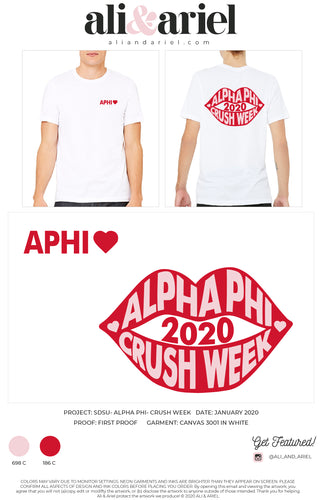 UNISEX CREWS. SDSU- Alpha Phi- Crush Week