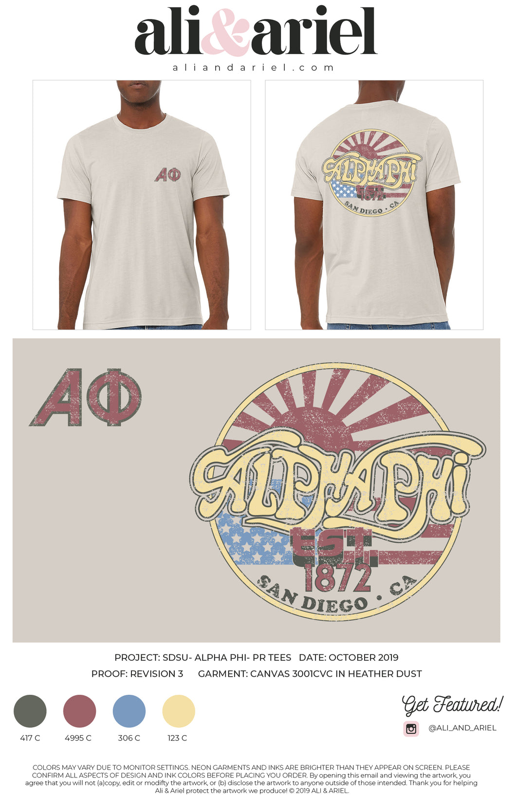 BAND TEES. SDSU- Alpha Phi- Fall '19 Collection