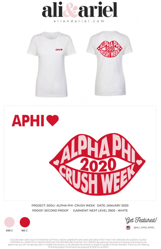 LADIES FIT. SDSU- Alpha Phi- Crush Week