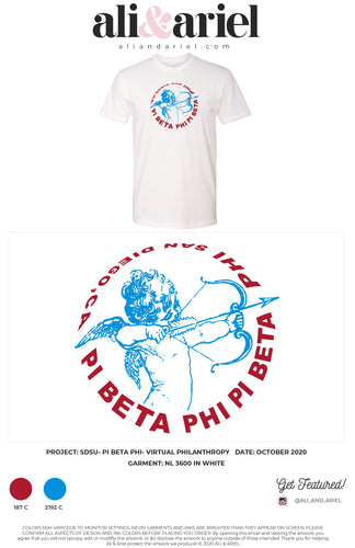 INDIVIDUAL SHIP, TEES. SDSU- Pi Beta Phi- Virtual Philanthropy