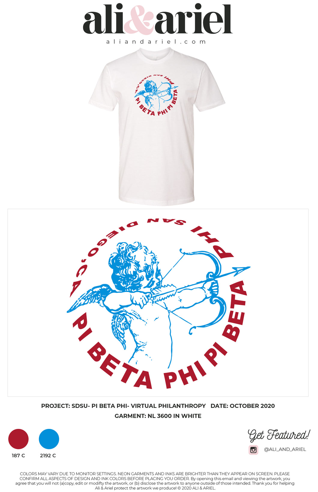 LOCAL PICKUP, TEES. SDSU- Pi Beta Phi- Virtual Philanthropy